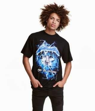 T-shirt med motiv str. XS