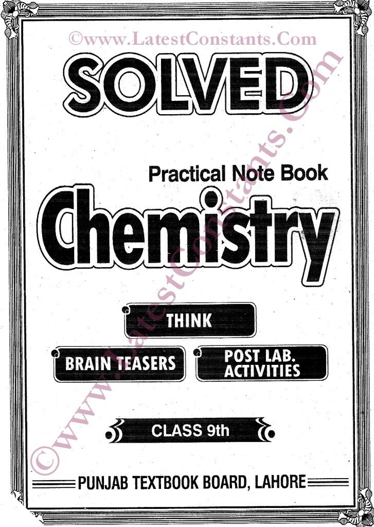 Solved Practical Notebook Chemistry 9th & 10th Class New Pattern
