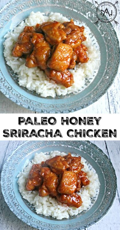 Paleo Honey Sriracha Chicken - an easy, healthy, gluten-free dinner that-makes perfect leftovers for lunch!