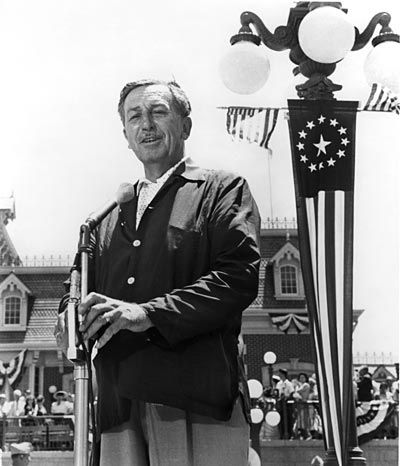 Walt at Disneyland's opening day - July 17, 1955. Thanks Walt, for opening on my birthday (#3)