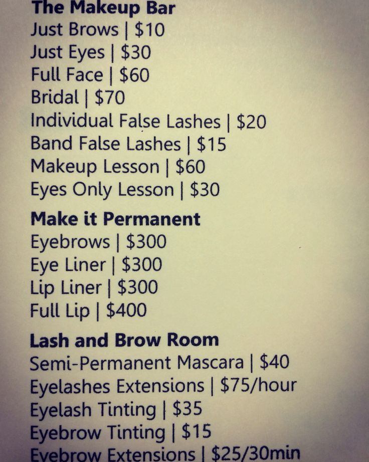 Makeup and eyelash extensions