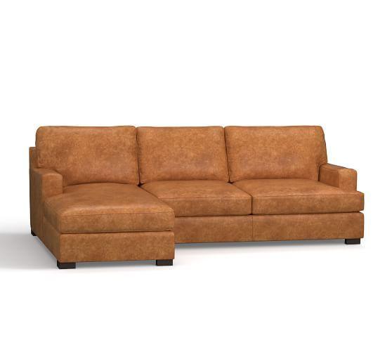 Die besten 25+ Leather chaise sofa Ideen auf Pinterest Couch - wohnzimmer orange beige