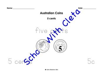 how to write dollars and cents australian kids