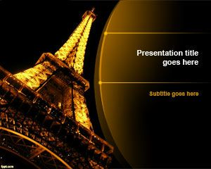 Free Night Eiffel Tower PowerPoint template is an impressive design for PowerPoint presentations with the Eiffel Tower in the night