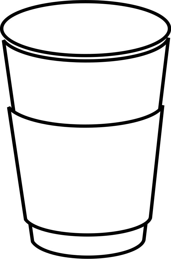 How Much Coffee Is In Ak Cup >> outline of coffee cup | most orders white cartoon hot free ...