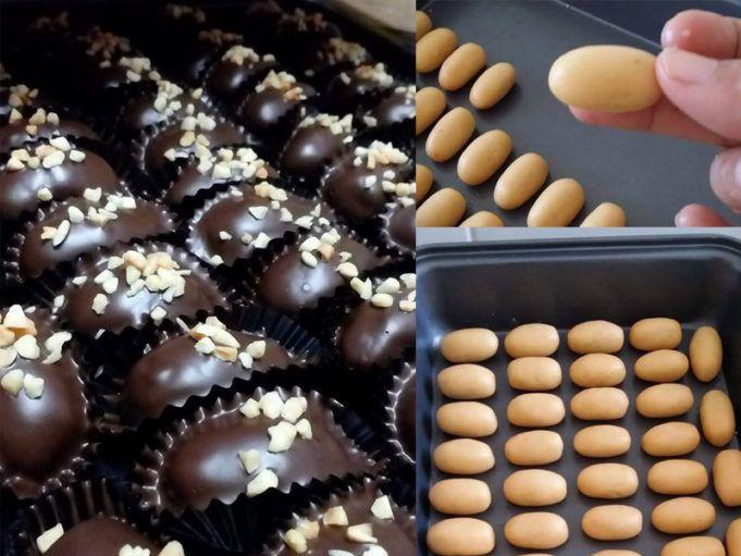 Resepi Biskut Almond London Dengan Tips Coklat Tak Melekat Dan Sama Saiz Resep Biskuit Coklat Resep