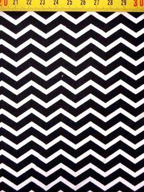 B 1914 Bedrukt katoen zigzag smal zwart/wit