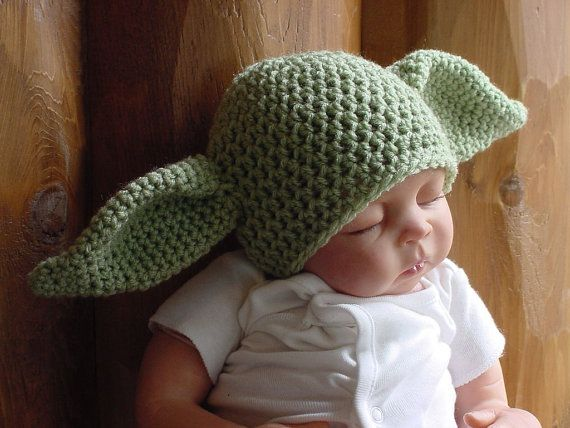Baby Alien,  Goblin, Yoda Inspired Hat, 6 to 12 Months, Photo Prop on Etsy, $17.75
