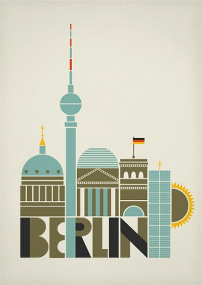 berlin art and design posters Solvita Marriott