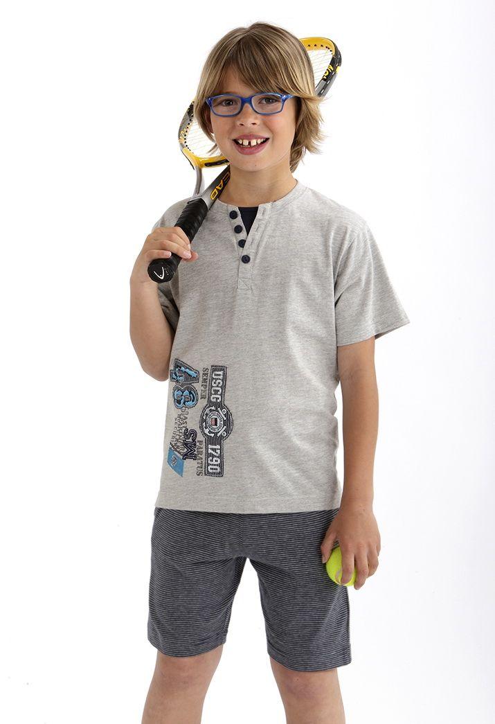 Pijama niño pantalón corto #massanahomewear #pijama #boy