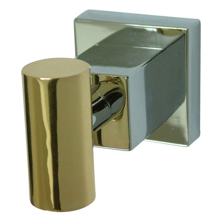 Kingston Brass Claremont Chrome / Polished Brass Robe Hook BAH8647CPB