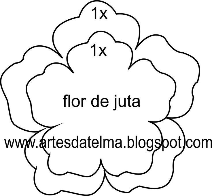 MOLDE DA FLOR DE JUTA                                                                                                                                                      Mais
