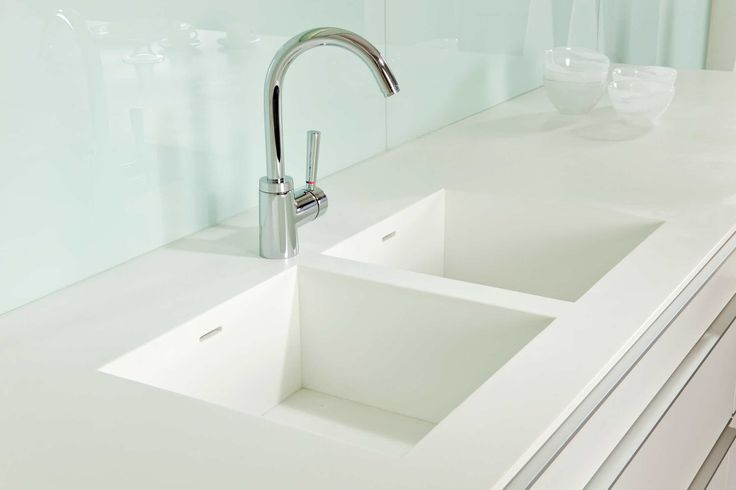 Clean lines and beautiful simplicity/detail Poggenpohl - Sink and Worktop as One Piece
