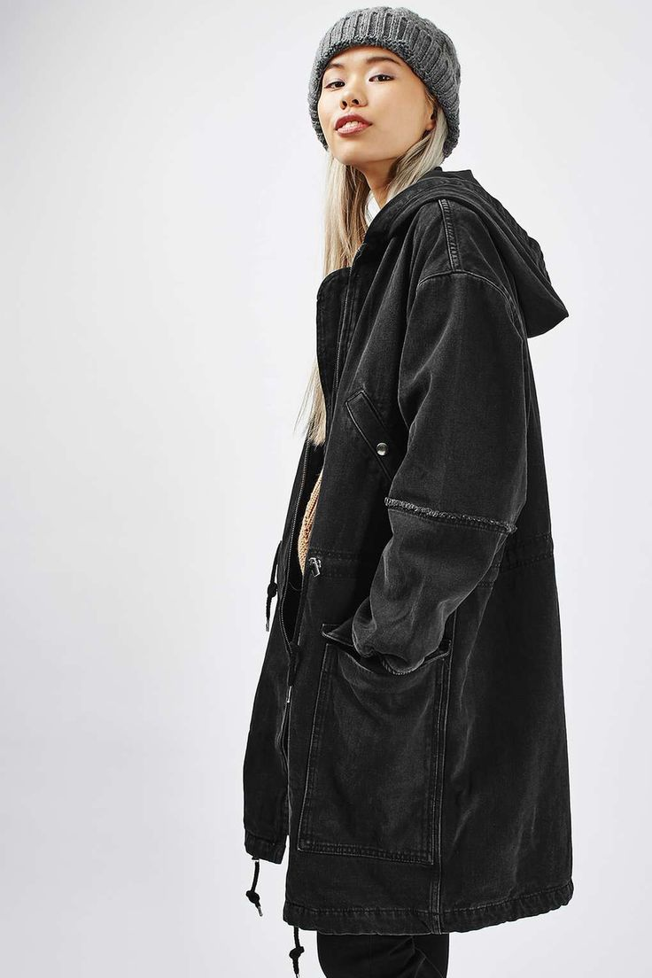 MOTO Oversized Denim Parker