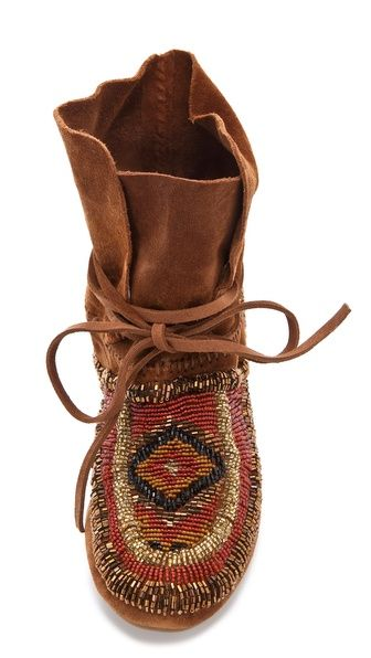 House of Harlow 1960 Madison Beaded Moccasins