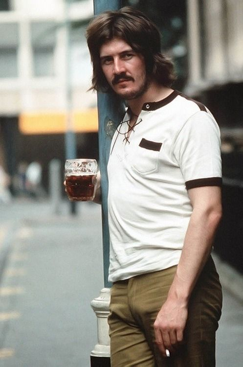 John Henry Bonham a drink in one hand a smoke in the other.  There will never be anyone cooler than JHB.
