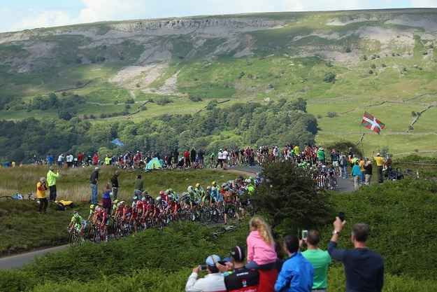 The race then thundered through the Yorkshire Dales.