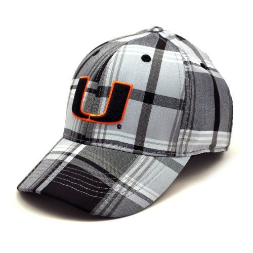 NCAA Miami Hurricanes Line Drive 1 Fit Cap, Grey Plaid, One Size by Top of the World. Save 8 Off!. $16.46. Stretch fit design. Six panel construction with eyelets. Cotton Plaid Stretch Fit Hat. Embroidered team graphics. Toned plaid design. Shield your eyes from the sun and enjoy a Hurricanes game while wearing this Miami Hurricanes Grey Cotton Plaid Stretch Fit Hat. Made by Top of the World, this Miami Hurricanes hat features embroidered graphics and a stretch fit design. Cap...