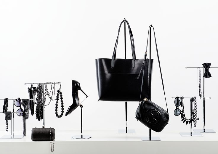 Metal displays for jewellery, bags and shoes presentation. Bold, simple and practical in use and its appearance. #retail #fashion #VisualMerchandising #boutique