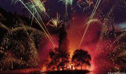 Butchart Gardens fireworks began this week.