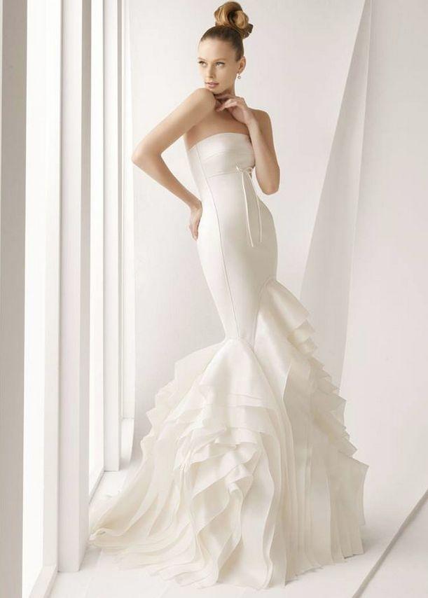 Rosa Clara strapless mermaid wedding dress
