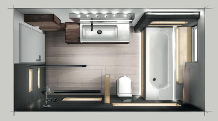 Bad- und Wohnraumgestaltung, Umbau von Büro- und Gewerbeflächen, Entwurf von M