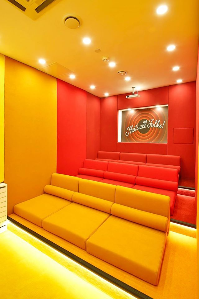 girls dormitory mini cinema area #rendahelindesign #winner #award #europeanpropertyawards #publicserviceinterior #publicservicesdevelopment #propertyawards #decor #decoration #interior #interiordesign #konforist #dorm #girls #InternationalPropertyAwards