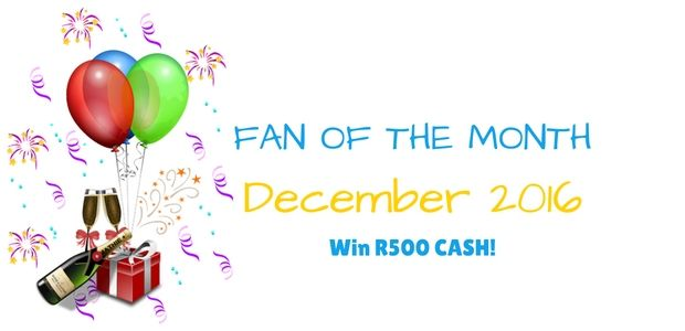 Congrats to our November Fan Of The Month that has just won R500!   And here are the competition details for the December competition!   #WinR500 #KaboutjieFOTM