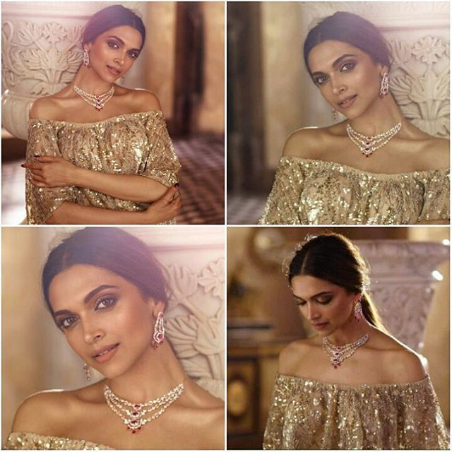The Royal Charm ! ❤ @DeepikaPadukone for @tanishqjewellery. In @jade_bymk. Styling by @shaleenanathani. #deepikapadukone #bollywood #hollywood