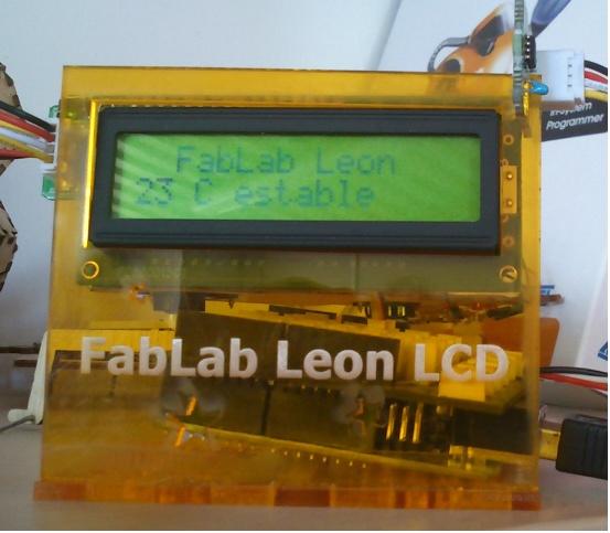 Sensor de temperatura fabricado en FabLab León con la placa Arduino.