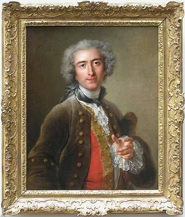 Charles-Antoine Coyper. Le Louvre: Portrait de Philippe Coypel (1703-1777), écuyer du Roi et frère de l'artiste. 1732. H 0,75m L 0,61m.