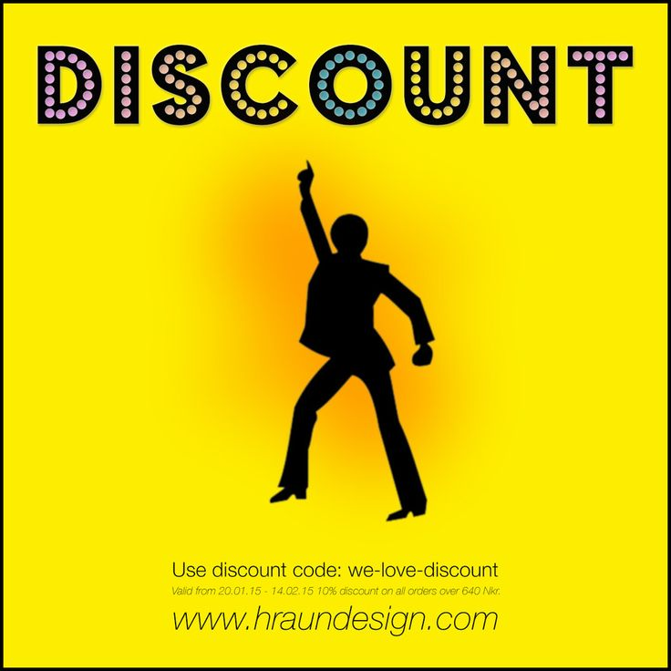 Everybody loves discount – Hraun- Art and design www.hraundesign.com