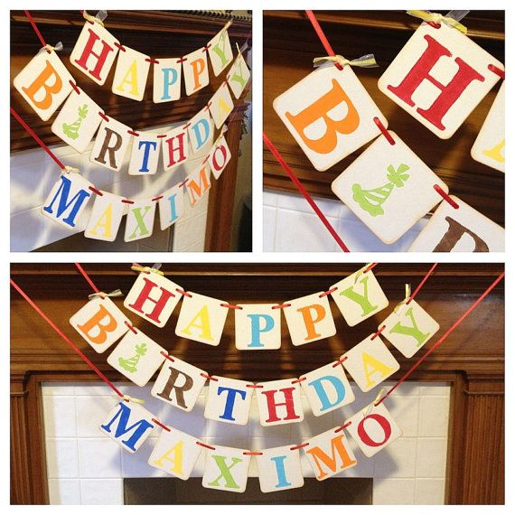 Birthday Banner HAPPY BIRTHDAY Birthday party by ClassicBanners