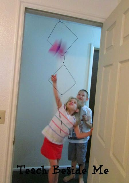 Paper Airplane game with kids