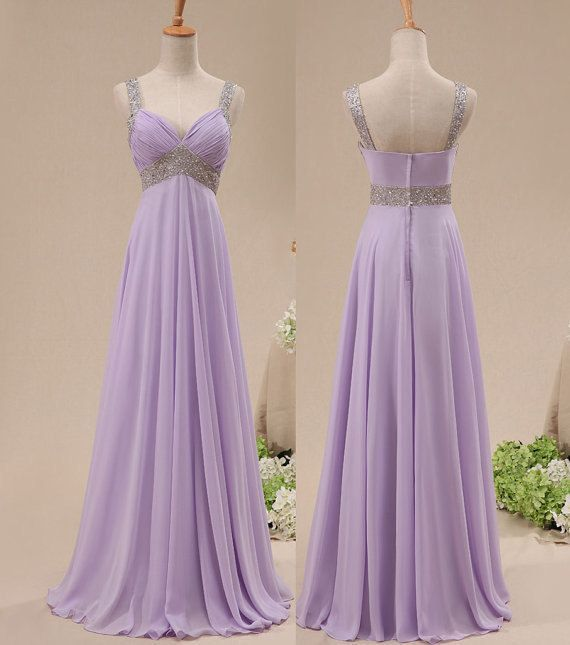 Image of  Pretty Lavender Sequins Prom Dresses , Long Prom Gown, Bridesmaid Dresses