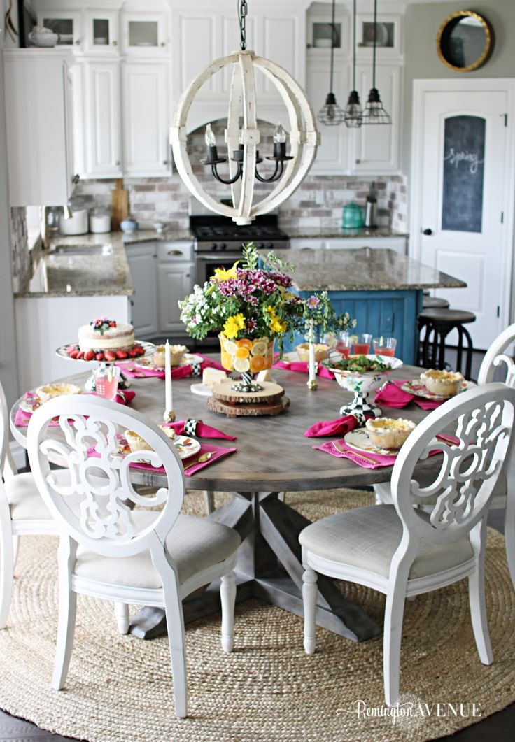 Floral and Citrus Summer Brunch Table