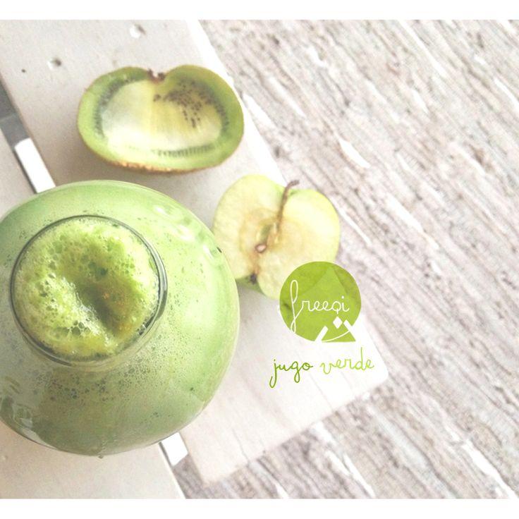 freeqi Jugos de manzana + kiwi + apio   https://www.facebook.com/freeqiviajaliviano?fref=photo