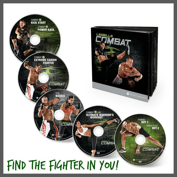 Got a little fight in ya? You might dig this Les Mills Combat workout DVD system!