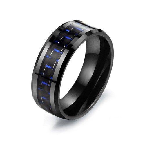 Stylish Titanium Steel Ceramic Ring Men's Ring