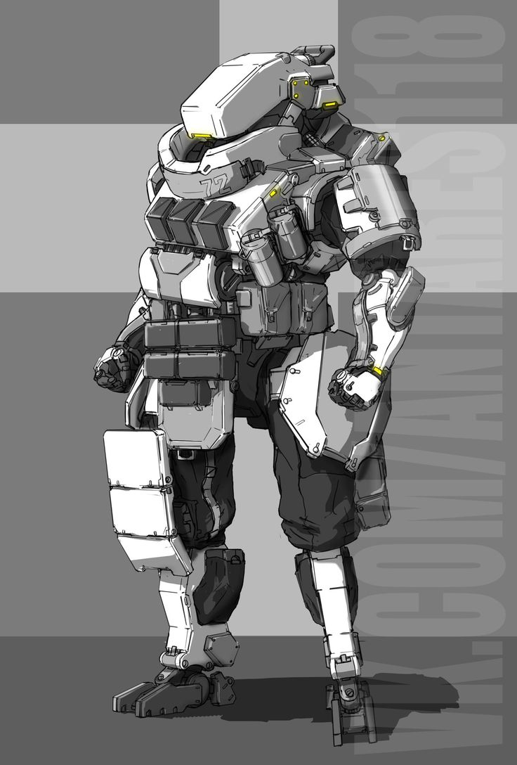 #concept #droid #heavy #armor #military #robot