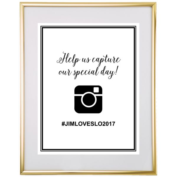 Free Printable Hashtag Wedding Sign from @chicfettiwed