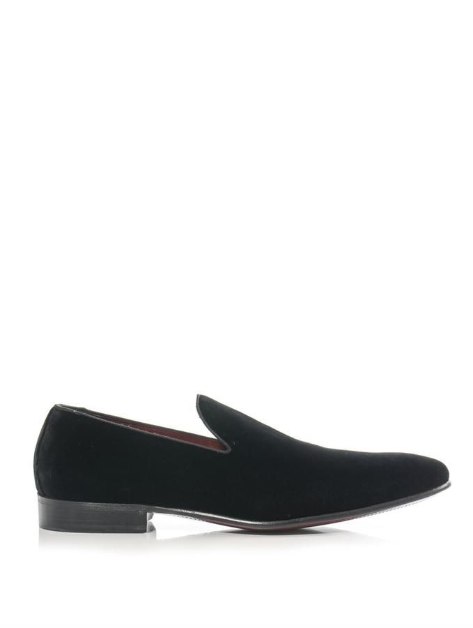 Dolce & Gabbana Venezia velvet loafers on shopstyle.com