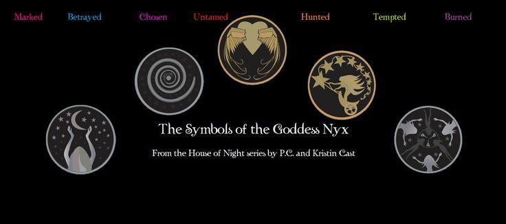 house of night symbols   Goddess' symbols from The House of Night Series, cast, house of night ...