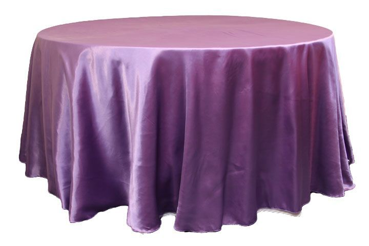lilac round linen
