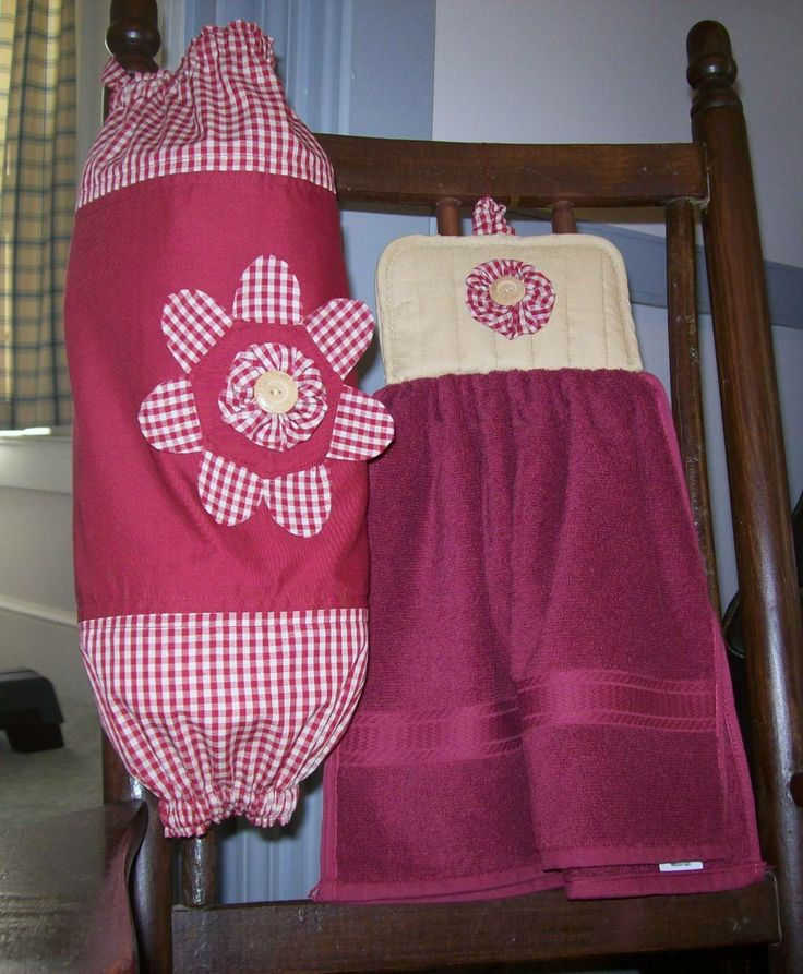 Plastic Bag Holder Pattern Free   Plastic Bag Holder and Matching Towel Finished project - Submit an ...