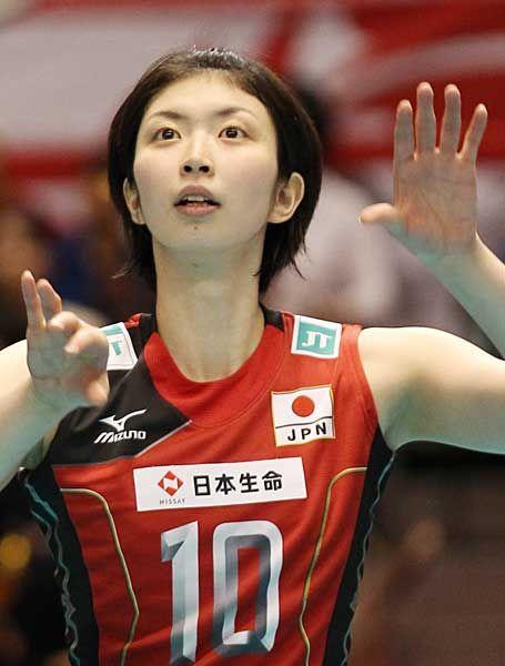 岩坂名奈(日本)。写真は、ロンドン五輪世界最終予選兼アジア予選のロシア戦で(東京)