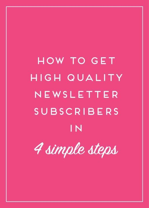 Building an email list can really help your brand grow. Here's how you can make sure that list is filled with targeted potential clients and readers!