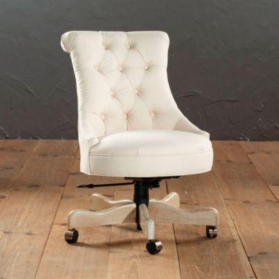 Elle Tufted Desk Chair European Inspired Home Furnishings