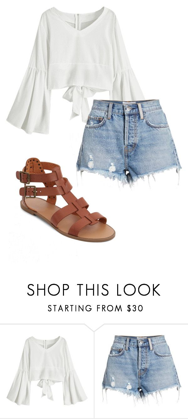 """Summer"" by grraciie-386 on Polyvore featuring Current/Elliott and New Look"