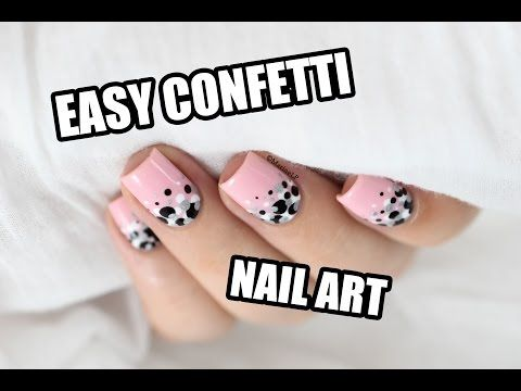 Marine Loves Polish: Confetti nail art [VIDEO TUTO]